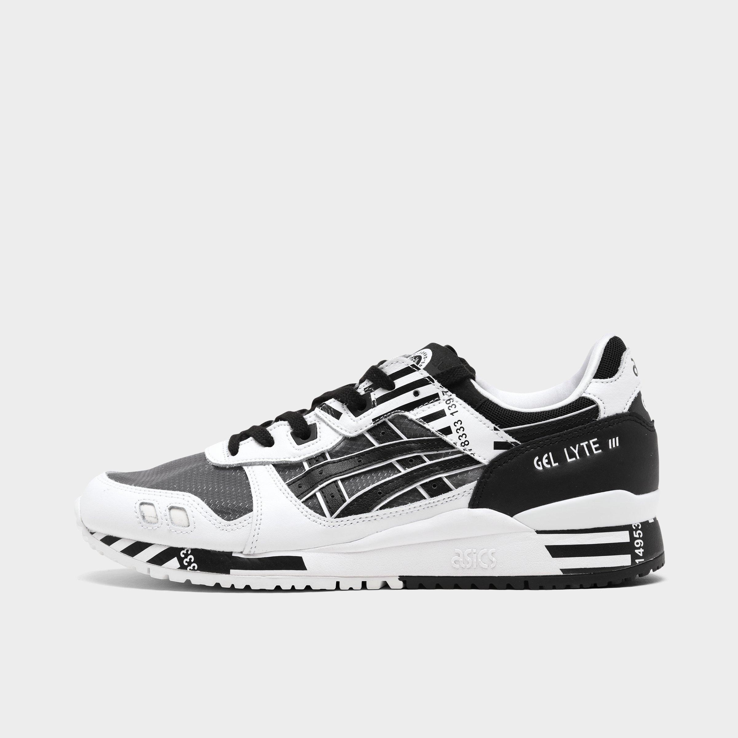 Black;White ASICS GEL-Lyte III Running Shoes Mens