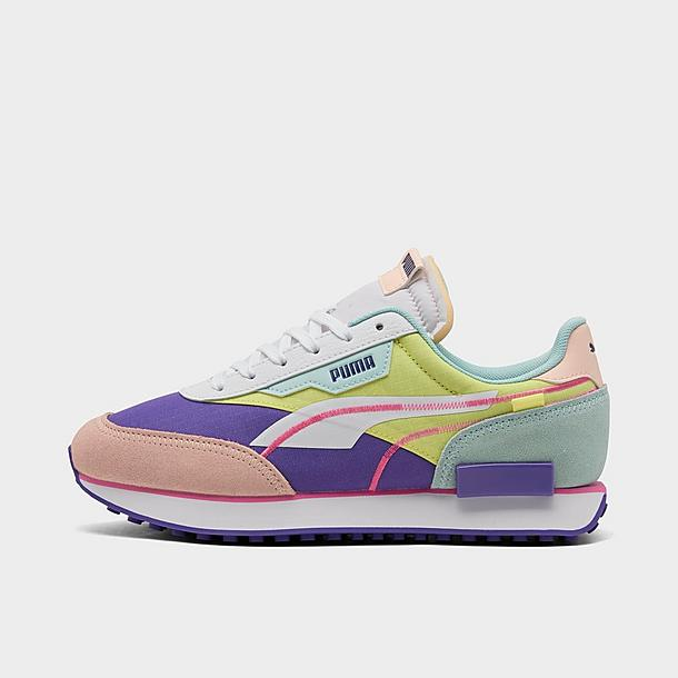 Women's Puma Future Rider Twofold SD Neon Pop Casual Shoes| JD Sports