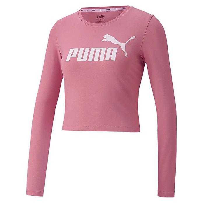 women s puma essential logo long sleeve t shirt jd sports jd sports