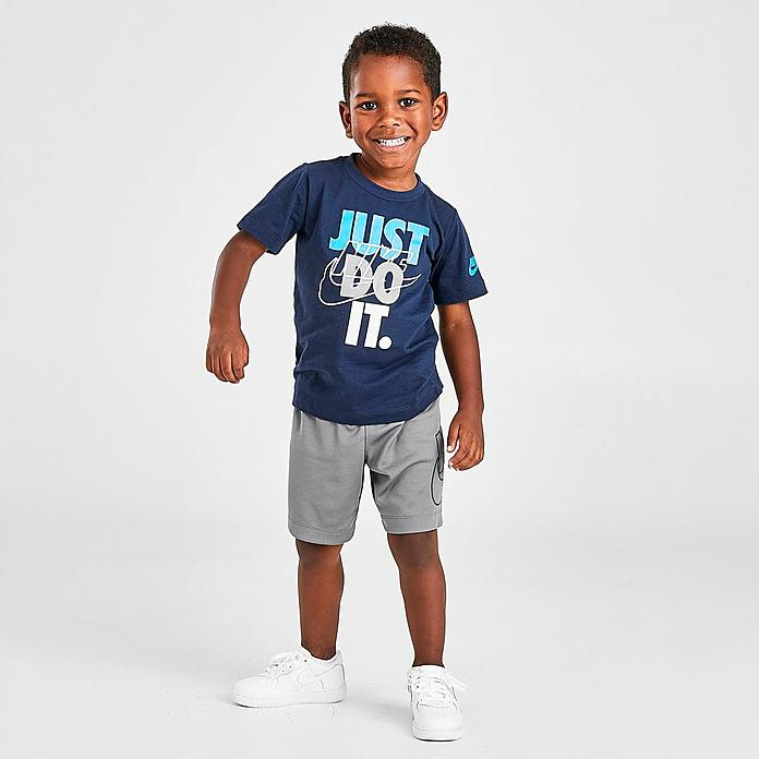 boys toddler nike jdi outline logo t shirt and shorts set jd sports jd sports
