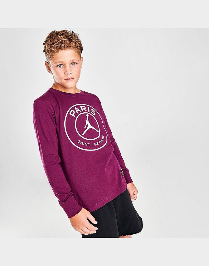 boys jordan paris saint germain logo mirrored long sleeve t shirt jd sports jd sports