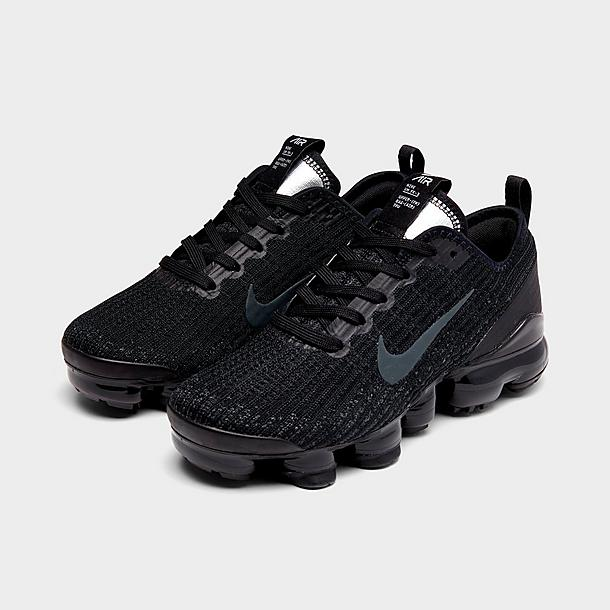 nike women's air vapormax flyknit 3 shoes - black/anthracite/white