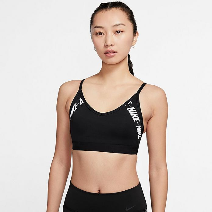 Women S Nike Indy Light Support Logo Sports Bra Jd Sports