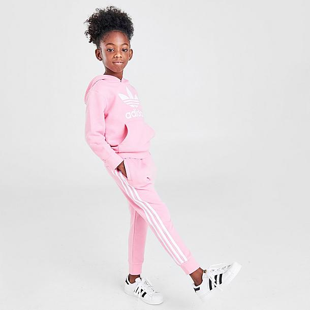 girls adidas originals trefoil hoodie and jogger pants set jd sports jd sports