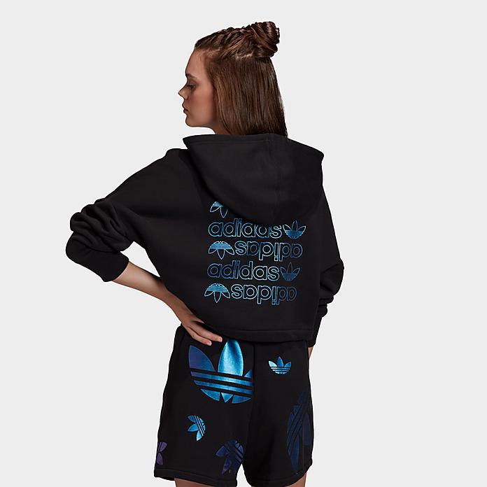 women s adidas originals large logo cropped hoodie jd sports large logo cropped hoodie