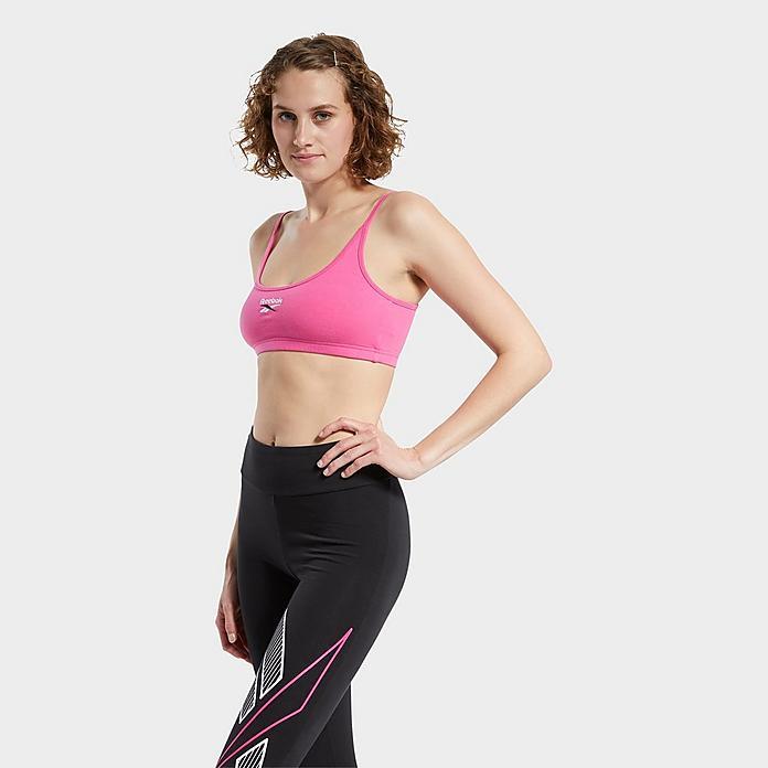 women s reebok small logo low impact sports bra jd sports jd sports