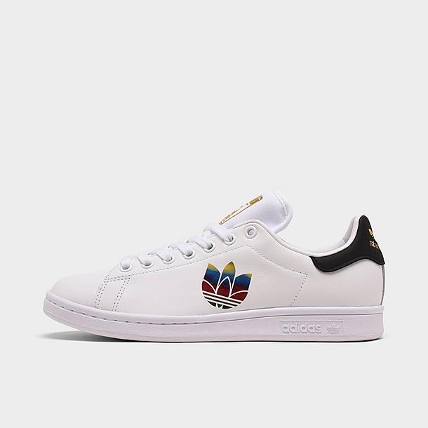 Women's adidas Originals Stan Smith Adicolor 3D Trefoil Pride Casual Shoes