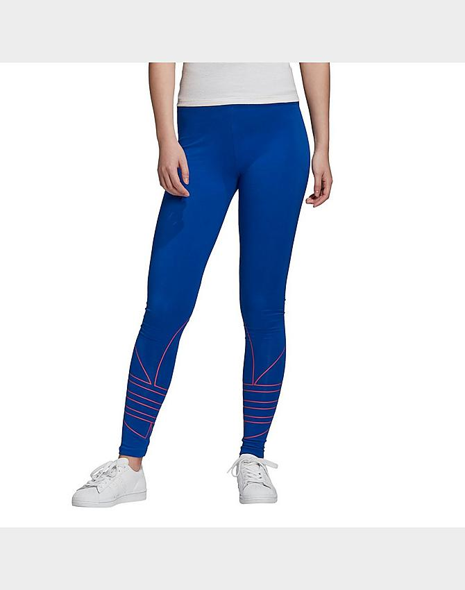 women s adidas originals adicolor large logo leggings jd sports jd sports