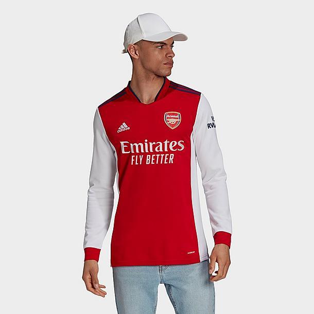Men's adidas Arsenal 2021/22 Long-Sleeve Home Soccer Jersey