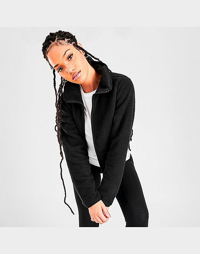 Women S The North Face Dunraven Sherpa Crop Jacket Jd Sports