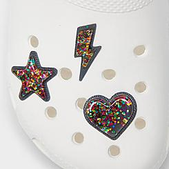 Crocs Jibbitz Glitter Celebration Charms (3-Pack)