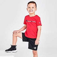 Boys' Toddler Champion Multicolor Script Logo T-Shirt and Shorts Set
