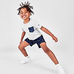Boys' Toddler Champion Multi-Color Script Logo Pocket T-Shirt and Shorts Set