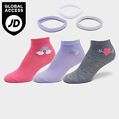 Kids' Sonneti Printed Quarter Socks (3-Pack)