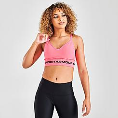 Women's Under Armour Seamless Low Long Heather Medium-Support Sports Bra