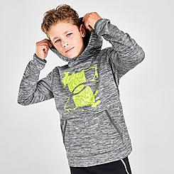 Boys' Under Armour Armour Fleece® Graphic Logo Pullover Hoodie