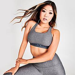 Women's Under Armour Mid Crossback Heather Medium-Support Sports Bra