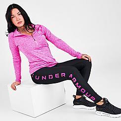 Women's Under Armour HeatGear No-Slip Waistband Branded Full-Length Leggings