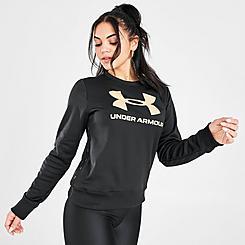 Women's Under Armour Metallic Fleece Crew Sweatshirt