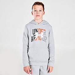 Boys' Under Armour Rival Duo Logo Pullover Hoodie