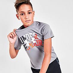 Boys' Under Armour Rival Dual Logo T-Shirt