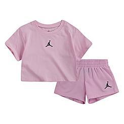 Girls' Infant Jordan Jumpman Essentials T-Shirt and Shorts Set