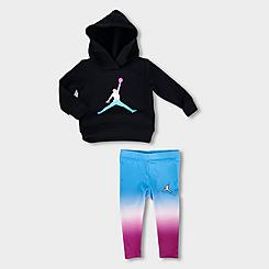 Girls' Infant Jordan Essentials Ombre Hoodie and Leggings Set