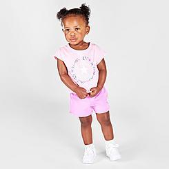 Girls' Infant Converse Flower Crown Chuck Taylor Logo T-Shirt and Shorts Set