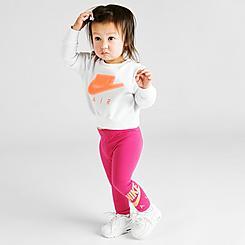 Girls' Infant Nike Air Crewneck Sweatshirt and Leggings Set