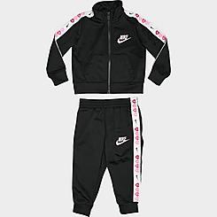 Girls' Infant Nike Heart Taped Tricot Tracksuit