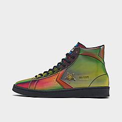 Converse Pro Leather Iridescent Tie-Dye High Top Casual Shoes