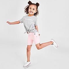 Girls' Toddler Champion Tie-Front Script T-Shirt and Bike Shorts Set