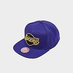 Mitchell & Ness Los Angeles Lakers NBA Black Pop Snapback Hat