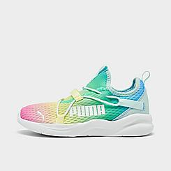 Girls' Little Kids' Puma Rainbow Rift Slip-On Casual Shoes