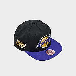 Mitchell & Ness Los Angeles Lakers NBA 2002 Finals Patch Snapback Hat