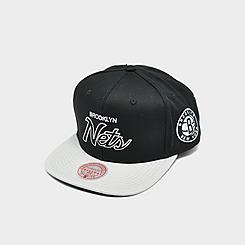 Mitchell & Ness Brooklyn Nets NBA Flat Script Snapback Hat