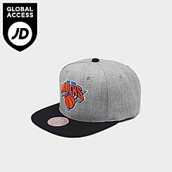 Mitchell & Ness New York Knicks NBA Heathered Grey Hardwood Classics Pop Snapback Hat