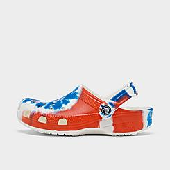 Little Kids' Crocs Classic Tie-Dye Graphic Clog Shoes