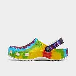 Crocs Classic Tie-Dye Graphic Clog Shoes