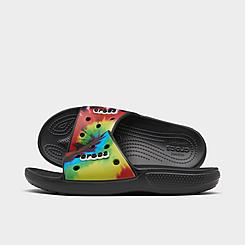 Crocs Tie-Dye Graphic Classic Slide Sandals