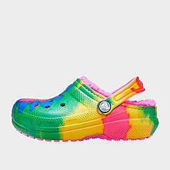 Girls' Big Kids' Crocs Classic Tie-Dye Graphic Lined Clog Shoes
