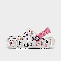 Girls' Toddler Crocs Classic Heart Print Clog Shoes
