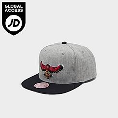Mitchell & Ness Atlanta Hawks NBA Heathered Grey Hardwood Classics Pop Snapback Hat