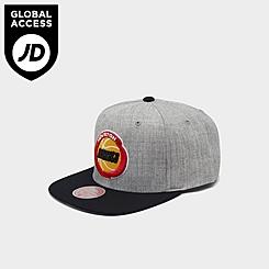 Mitchell & Ness Houston Rockets NBA Heathered Grey Hardwood Classics Pop Snapback Hat
