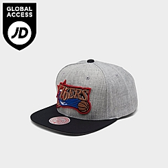Mitchell & Ness Philadelphia 76ers NBA Heathered Grey Hardwood Classics Pop Snapback Hat