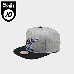 Mitchell & Ness Washington Wizards NBA Heathered Grey Hardwood Classics Pop Snapback Hat