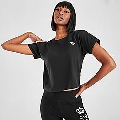 Women's Juicy Sport Cropped Crown T-Shirt
