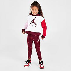 Girls' Toddler Jordan Jumpman Pullover Hoodie and Leggings Set