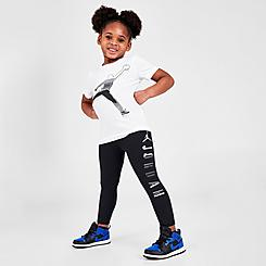 Girls' Toddler Jordan AJ1 Silver Toe T-Shirt and Leggings Set