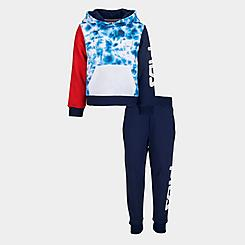 Boys' Toddler Fila Gian Tie-Dye Camo Fleece Pullover Hoodie and Jogger Pants Set
